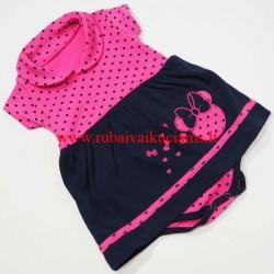 Smėlinukas-suknelė trumpomis rankovėmis