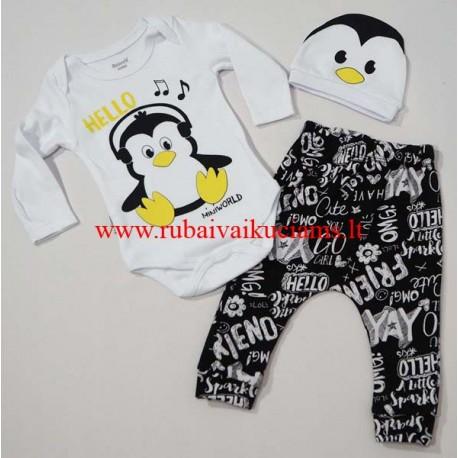Komplektas kūdikiui Pingvinas
