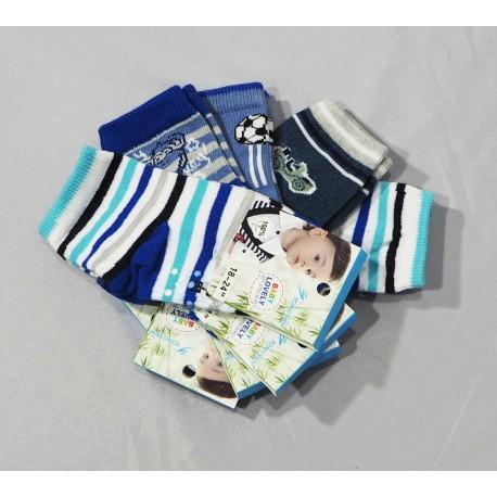 Berniukų kojinės su stabdžiais 0-6mėn 6-12mėn 12-18mėn. 18-24mėn.
