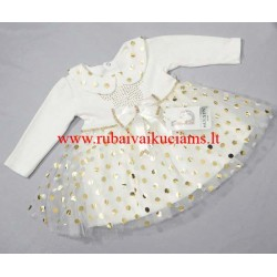 Puošni balta suknelė mergaitei
