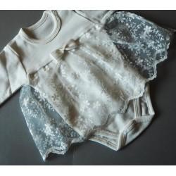Puošnus smėlinukas-suknelė ilgomis rankovėmis