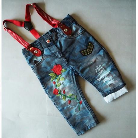 Stilingi džinsai mergaitei